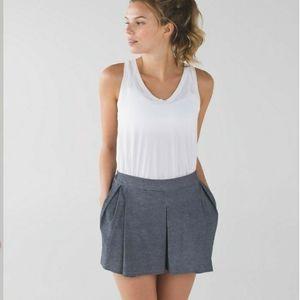 Lululemon & go City Skort Shorts Gray